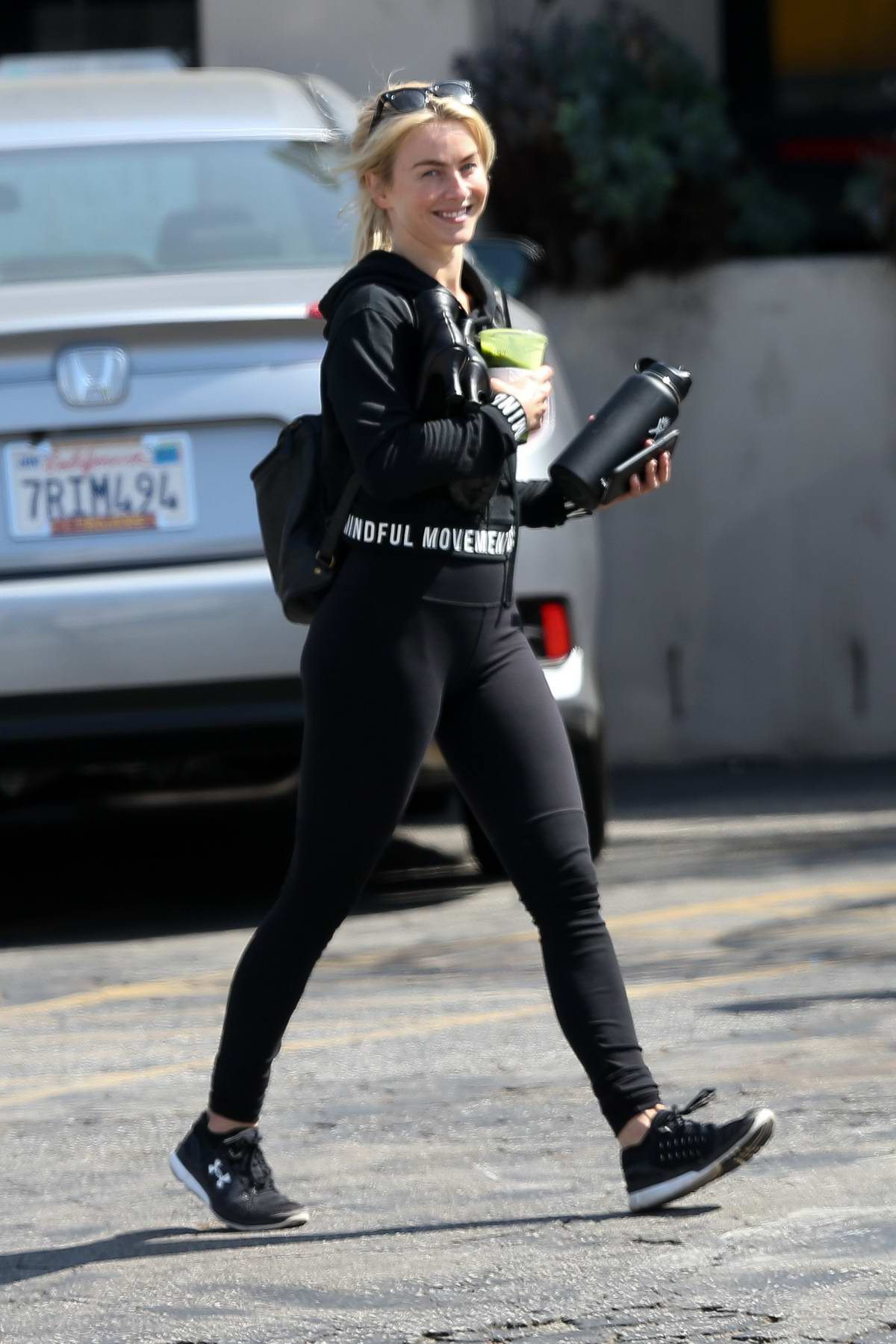 Julianne Hough sports all black as she heads to her dance class on Labor Day in Studio City, Los Angeles