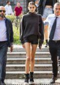 Kaia Gerber leaves the Max Mara Fashion Show, Spring/Summer 2019 during Milan Fashion Week in Milan, Italy