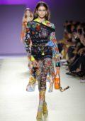 Kaia Gerber walks the runway at Versace Fashion Show during Milan Fashion Week, Spring/Summer 2019 in Milan, Italy