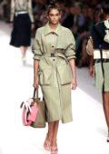Kaia Gerber walks the runway for Fendi Fashion Show, Summer/Spring 2019 during Milan Fashion Week in Milan, Italy