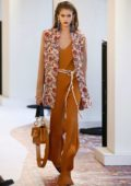 Kaia Gerber walks the runway for the Chloe Show during Paris Fashion Week in Paris, France