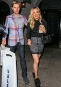 Kaley Cuoco enjoys a date night with husband Karl Cook at Craig's restaurant in West Hollywood, Los Angeles