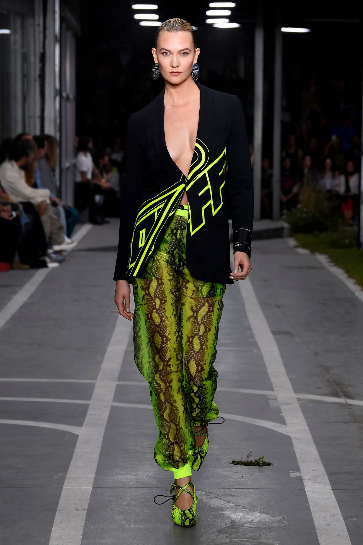Karlie Kloss walks the runway for the Off-White Show during Paris Fashion Week in Paris, France