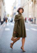 Kat Graham attending Jacquemus Show during Paris Fashion Week in Paris, France