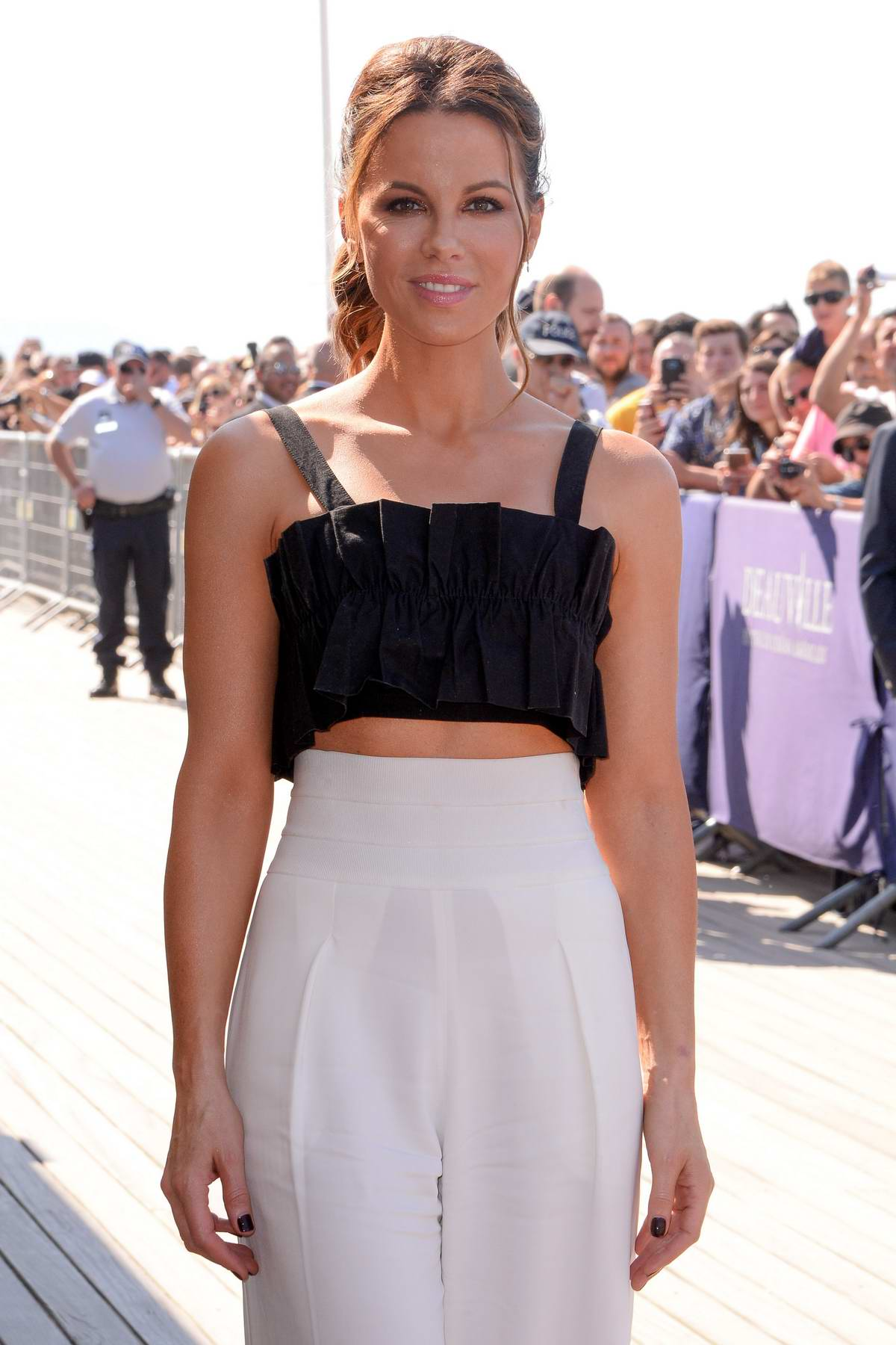 Kate Beckinsale attending a photocall during the 44th Deauville American Film Festival in Deauville, France