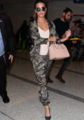Kate Beckinsale wears a stylish tracksuit as she arrives at LAX airport, Los Angeles