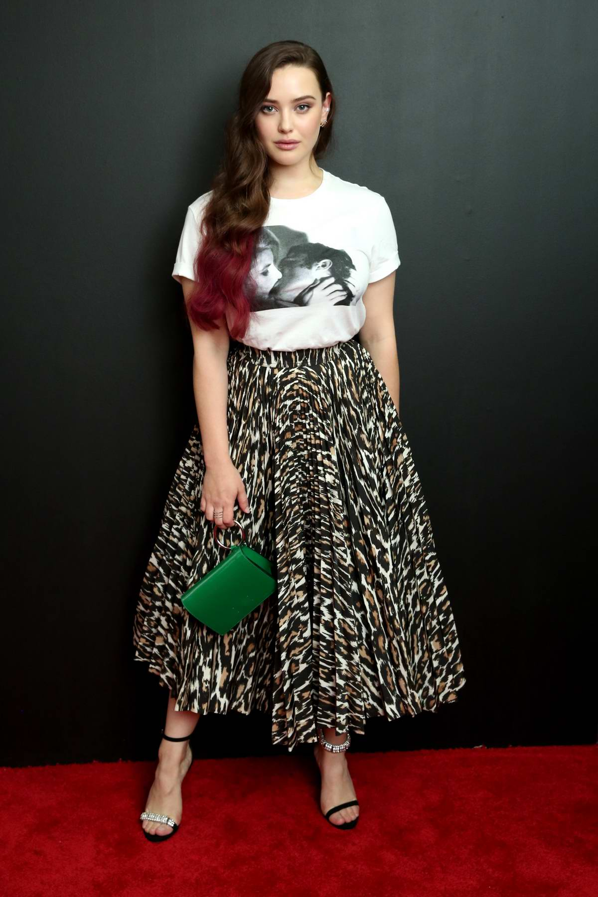 Katherine Langford attends Calvin Klein show during New York Fashion Week in New York City