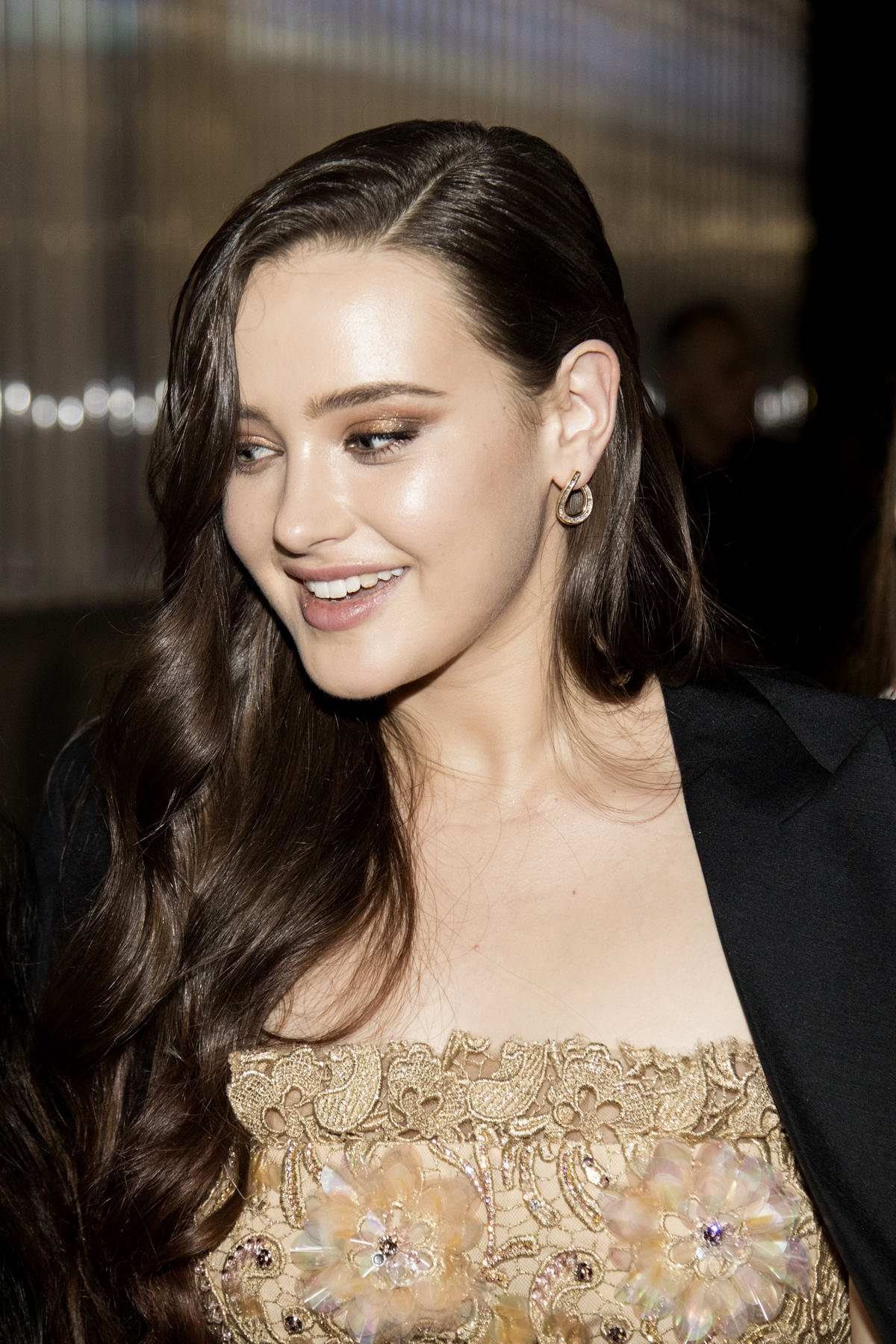 Katherine Langford spotted leaving a party during Milan Fashion Week in Milan, Italy