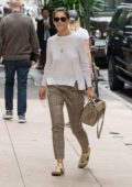 Katie Holmes heading to a business meeting in New York City