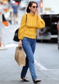 Katie Holmes is seen shopping at Isabel Marant and Trico Field in SoHo, New York City