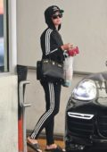 Katy Perry steps out in her Adidas leisurewear for a doctor's appointment in Beverly Hills, Los Angeles