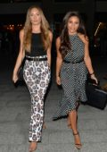 Kayleigh Morris and Georgie Clarke are seen arriving at Digme Fitness event in Covent Garden, London, UK