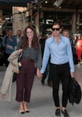 Keira Knightley and husband James Righton arrives at Paris Gare du Nord by the Eurostar to attend Paris Fashion Week