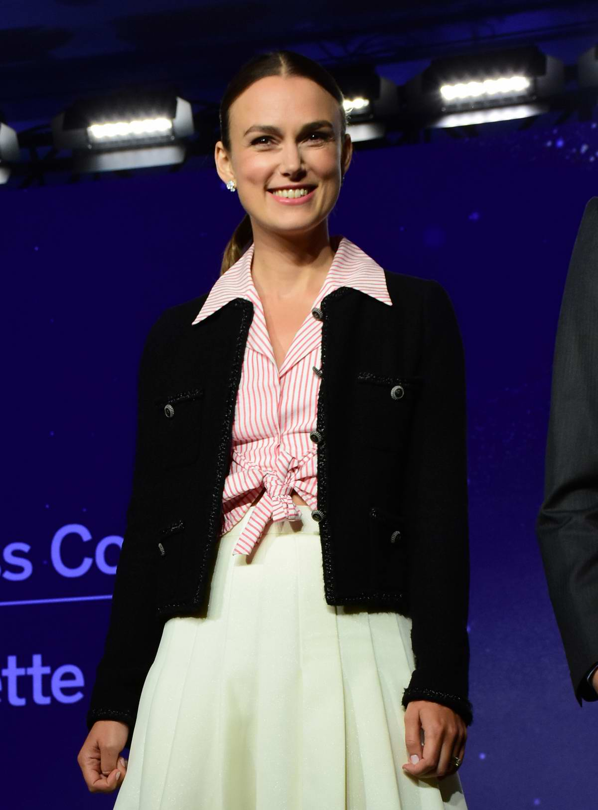 Keira Knightley attends the Colette press conference during the Toronto International Film Festival (TIFF 2018) in Toronto, Canada