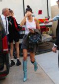 Kendall Jenner and Bella Hadid leaving Fendi Fashion Show SS19 during Milan Fashion Week in Milan, Italy