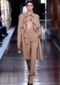 Kendall Jenner walks the runway at the Burberry Ready to Wear Spring/Summer 2019 Fashion Show during London Fashion Week in London, UK