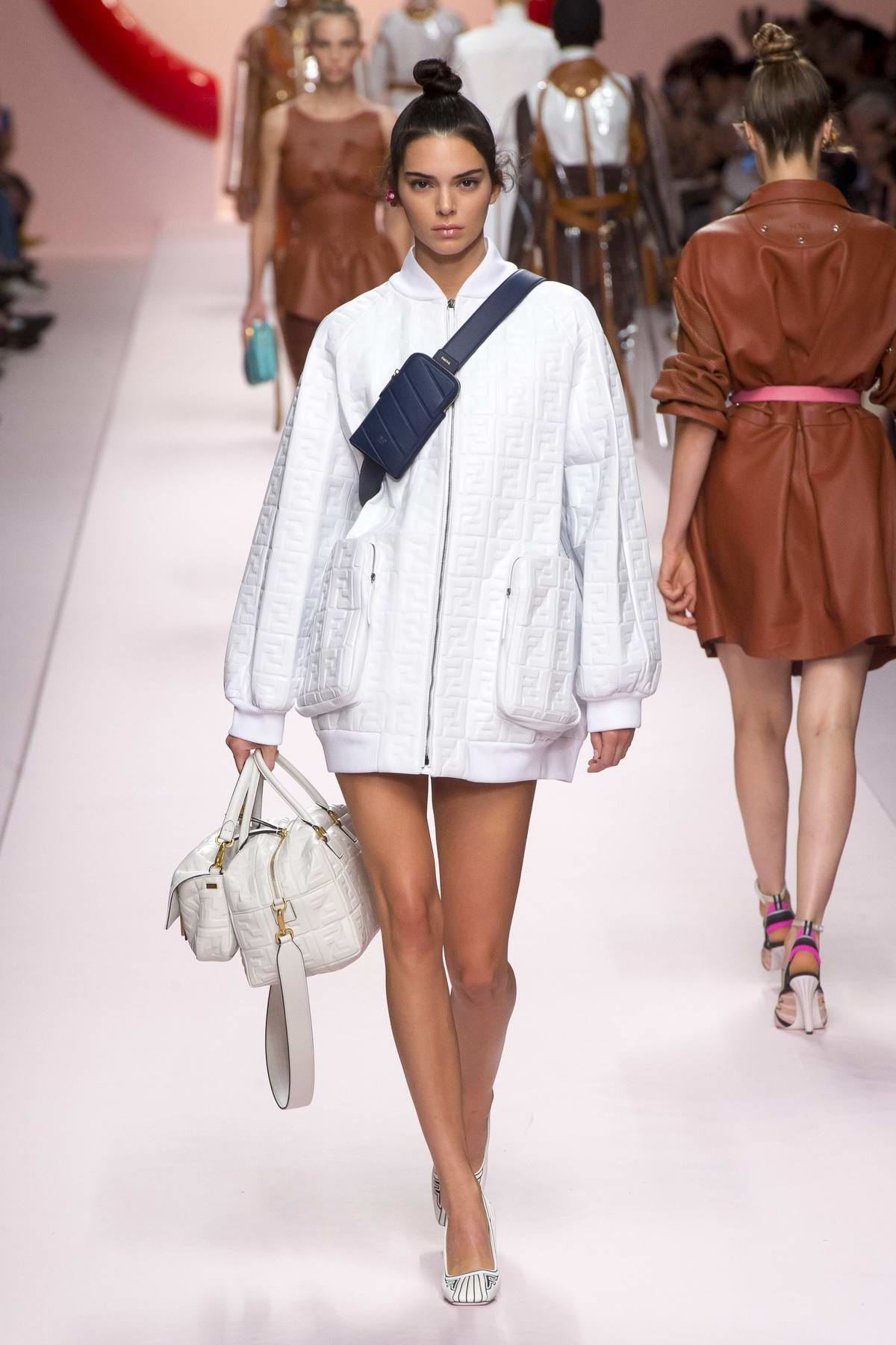 Kendall Jenner walks the runway for Fendi Fashion Show