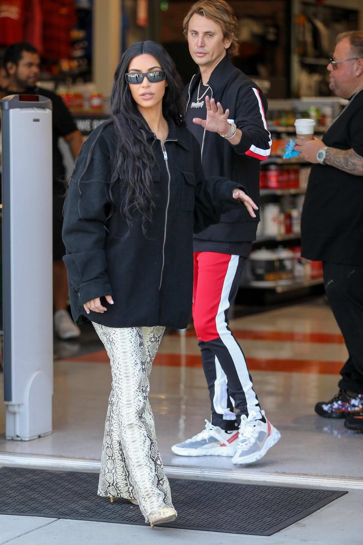 Kim Kardashian films a scene for Keeping Up With The Kardashians at Dick's Sporting Goods in Thousand Oaks, California