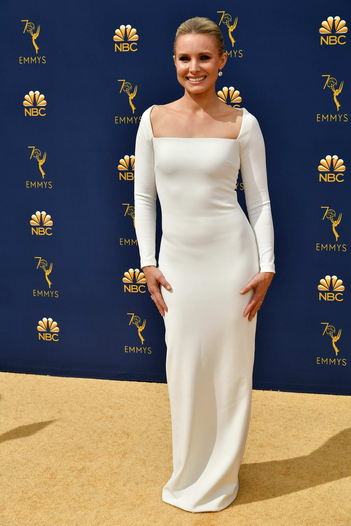 Kristen Bell attends the 70th Primetime EMMY Awards (EMMYS 2018) at Microsoft Theater in Los Angeles