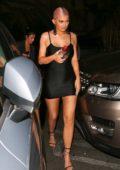 Kylie Jenner rocks a short black dress as she arrives at Delilah in West Hollywood, Los Angeles