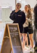 Kylie Jenner wore a black hoodie and tight shorts as she enjoyed some ice cream with Anastasia Karanikolaou in Calabasas, California
