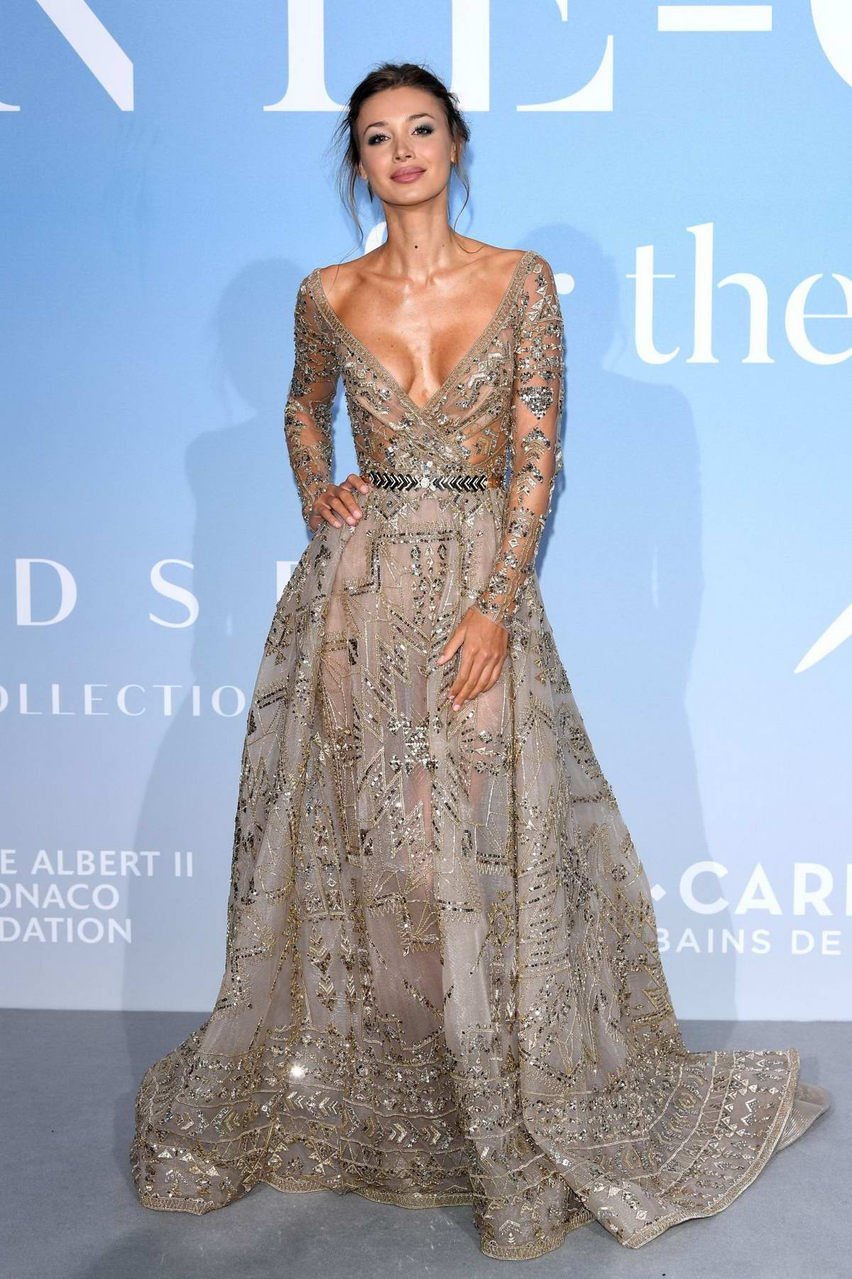 Lara Leito attends the Gala For The Global Ocean in Monte Carlo, Monaco