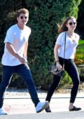 Lily Collins and Gregg Sulkin head out on a lunch date in West Hollywood, Los Angeles
