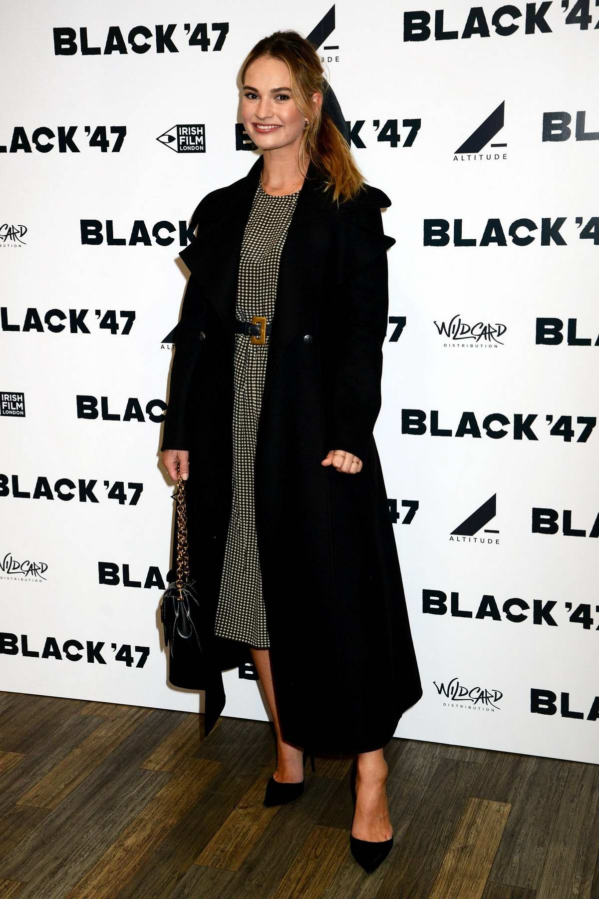 Lily James attends a special gala screening of Black '47' in London, UK
