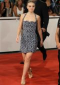 Lily-Rose Depp attends 'A Faithful Man' premiere during the 66th San Sebastian International Film Festival in Spain