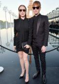 Lindsay Lohan attends Saint Laurent Show during Paris Fashion Week in Paris, France