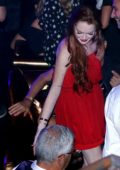 Lindsay Lohan parties with her friends at a night club in Athens, Greece