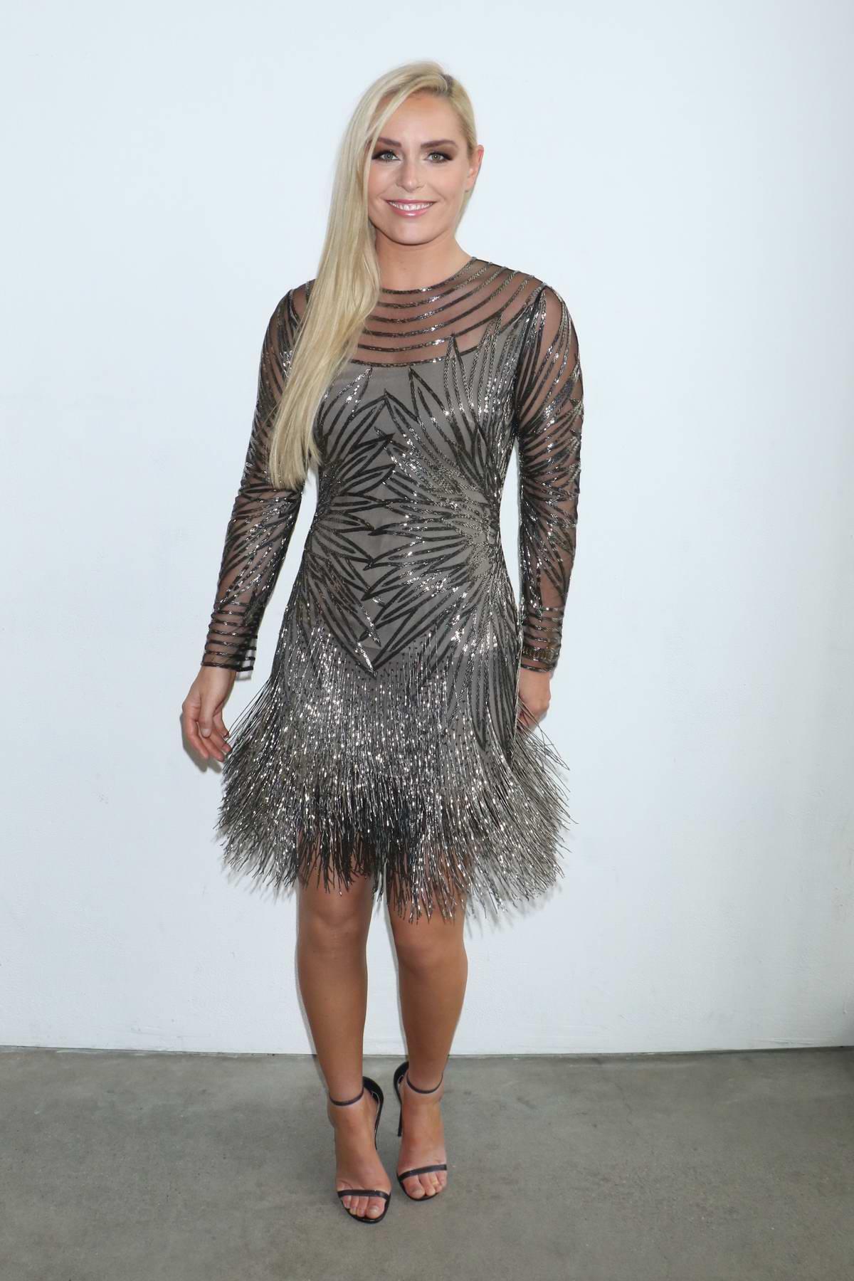 Lindsey Vonn attends Naeem Khan show during New York Fashion Week in New York City
