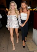 Lottie Moss leaves the LOVE Magazine 10th Birthday Party at Loulou's during London Fashion Week in London, UK
