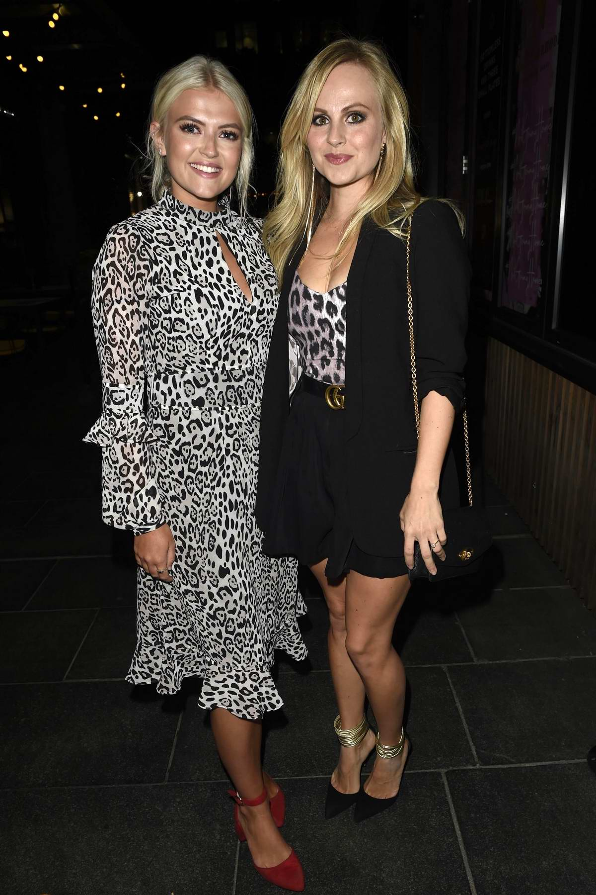 Lucy Fallon and Tina O'Brien at the Soigne Make Up Brush Launch at Neighbourhood in Manchester, UK