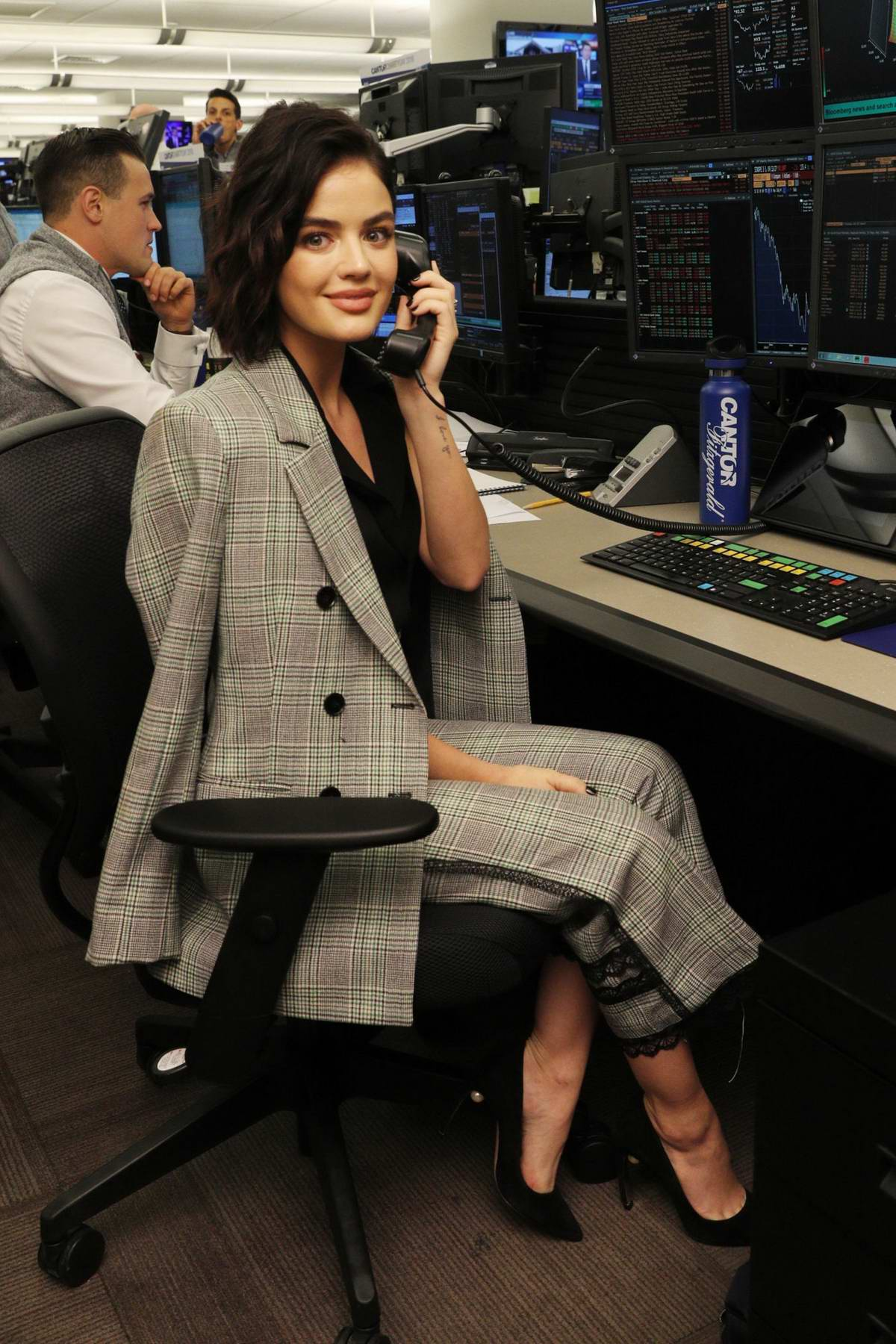 Lucy Hale attends Annual Charity Day Hosted By Cantor Fitzgerald, BGC and GFI in New York City