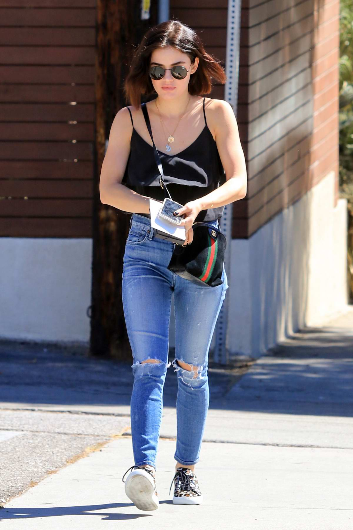8923c89af3c lucy hale steps out for lunch in a black top and ripped jeans in los  angeles-170918_2