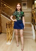 Madelaine Petsch attends the Tory Burch party in Beverly Hills, Los Angeles