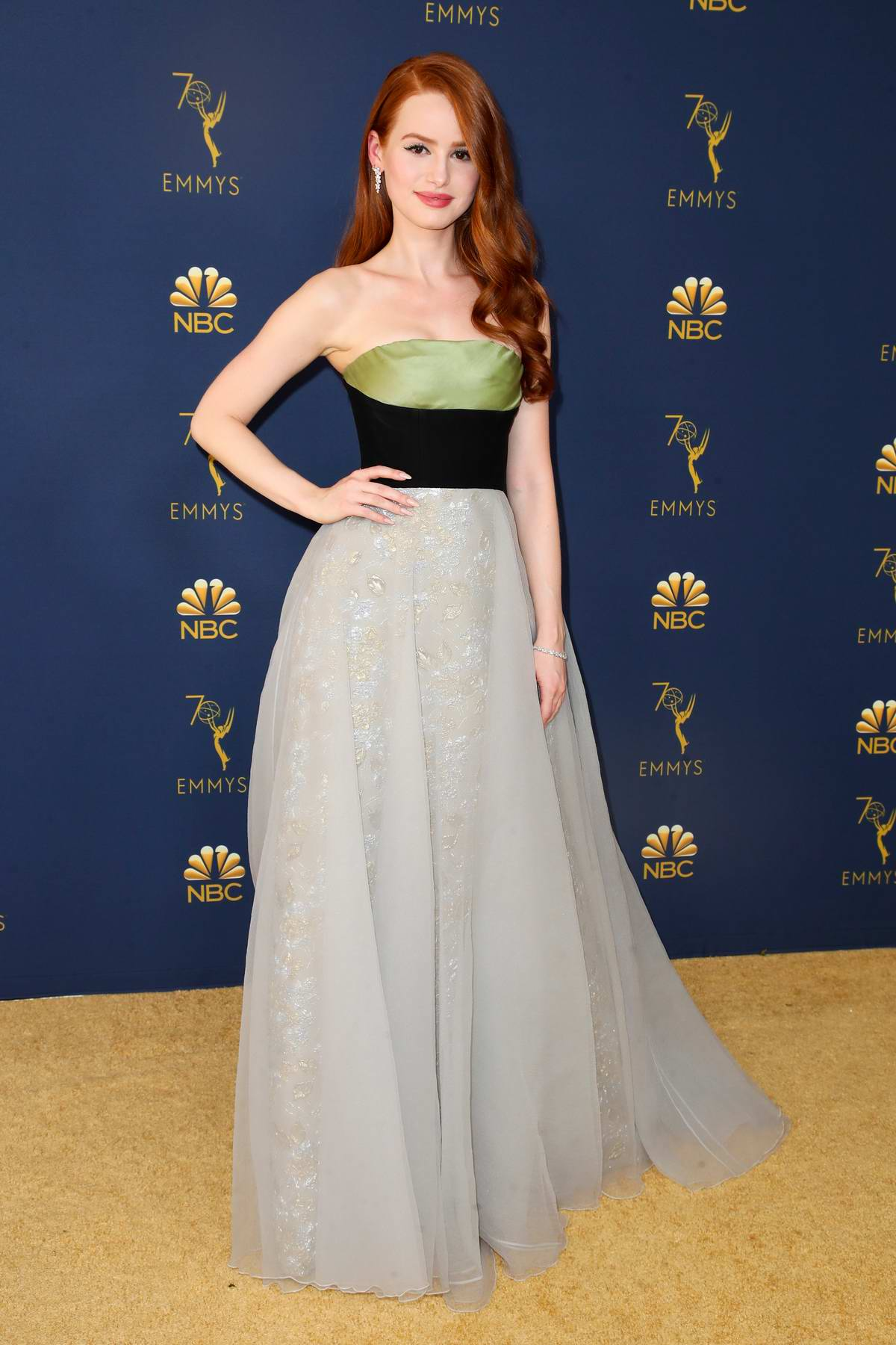Madelaine Petsche attends the 70th Primetime EMMY Awards (EMMYS 2018) at Microsoft Theater in Los Angeles