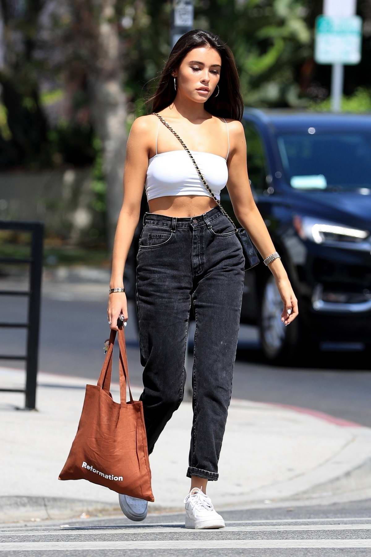 bed8a68ab55 madison beer steps out in a white tube top