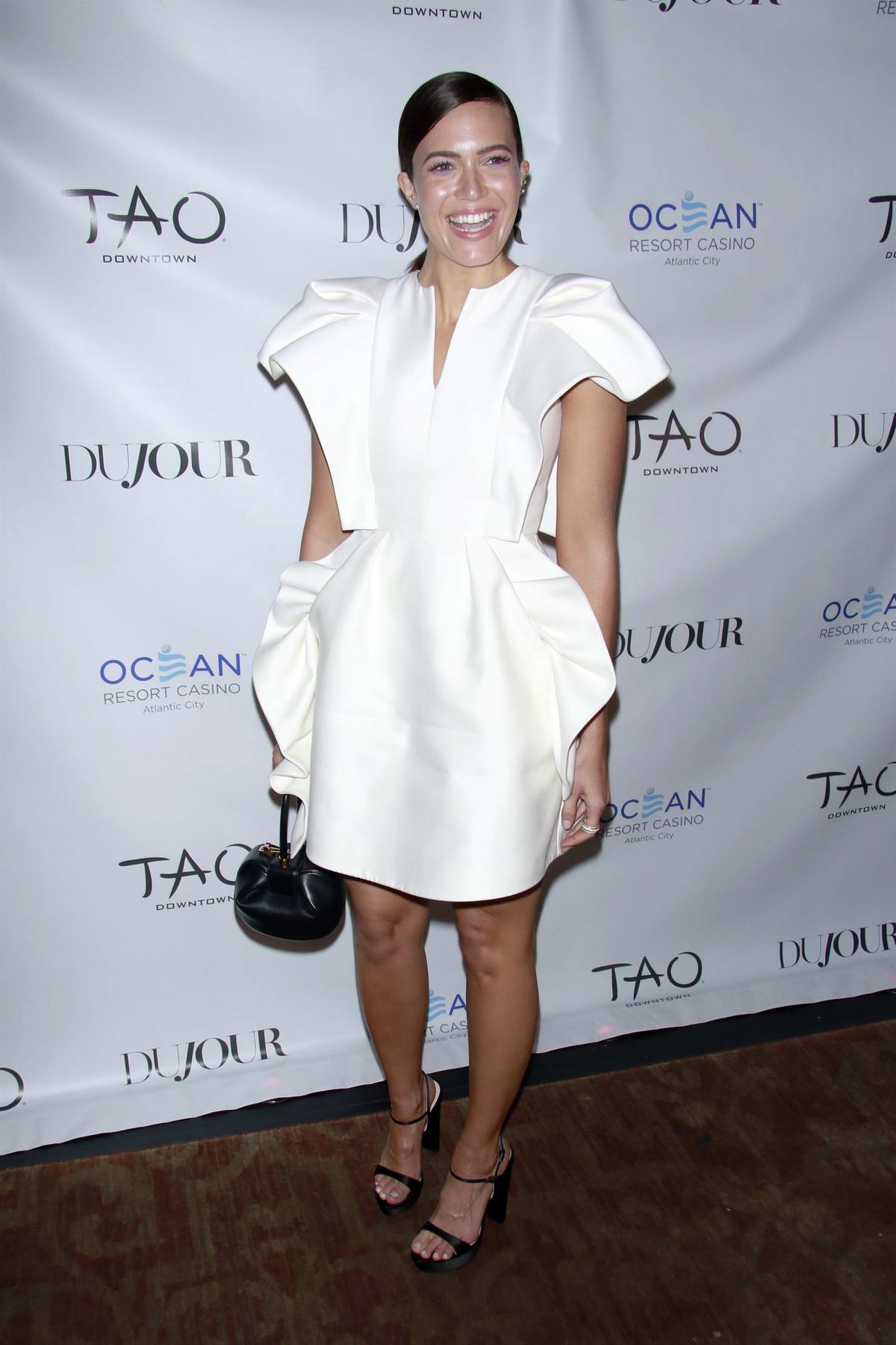 Mandy Moore attends the DuJour Fall Issue Cover Party with Mandy Moore at TAO Downtown in New York City