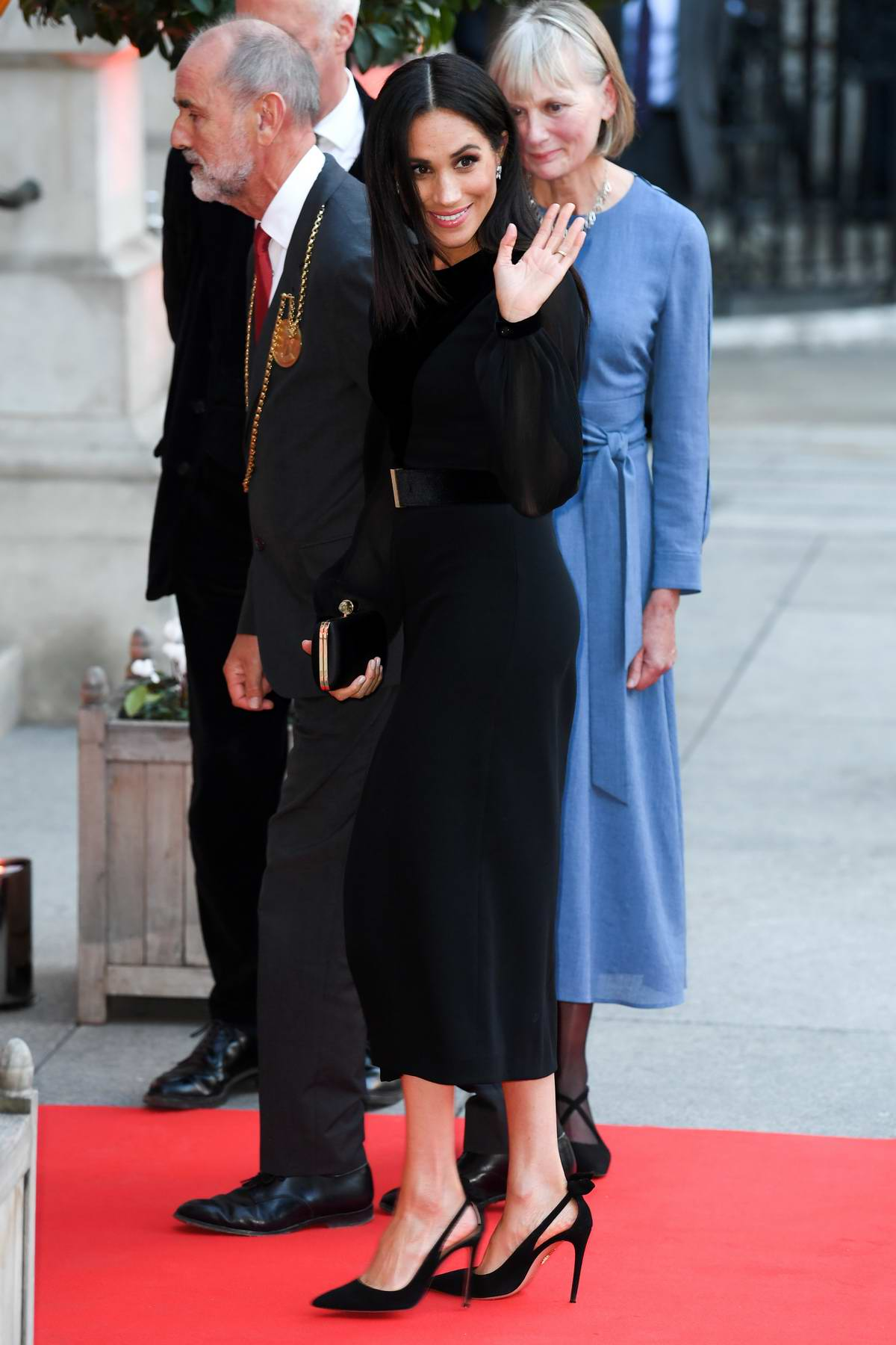Meghan Markle visiting the 'Oceania' exhibit at the Royal Academy of Arts in London, UK