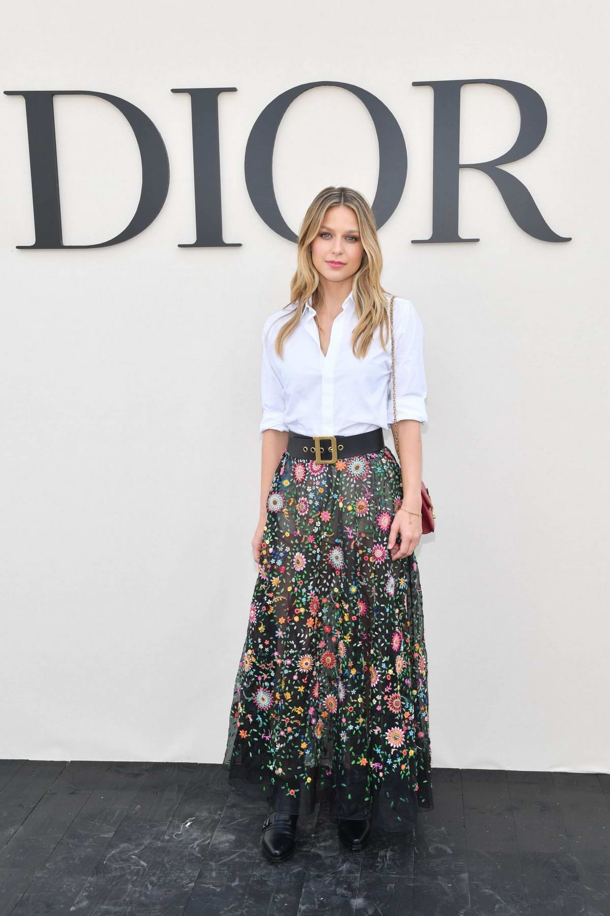 Melissa Benoist attends the Christian Dior Show during Paris Fashion Week in Paris, France