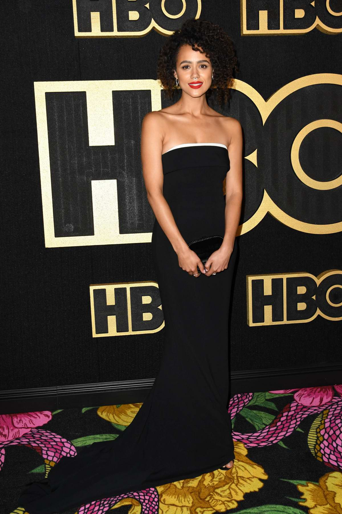 Nathalie Emmanuel attends 70th Primetime Emmy Awards HBO party at the Pacific Design Center in Los Angeles