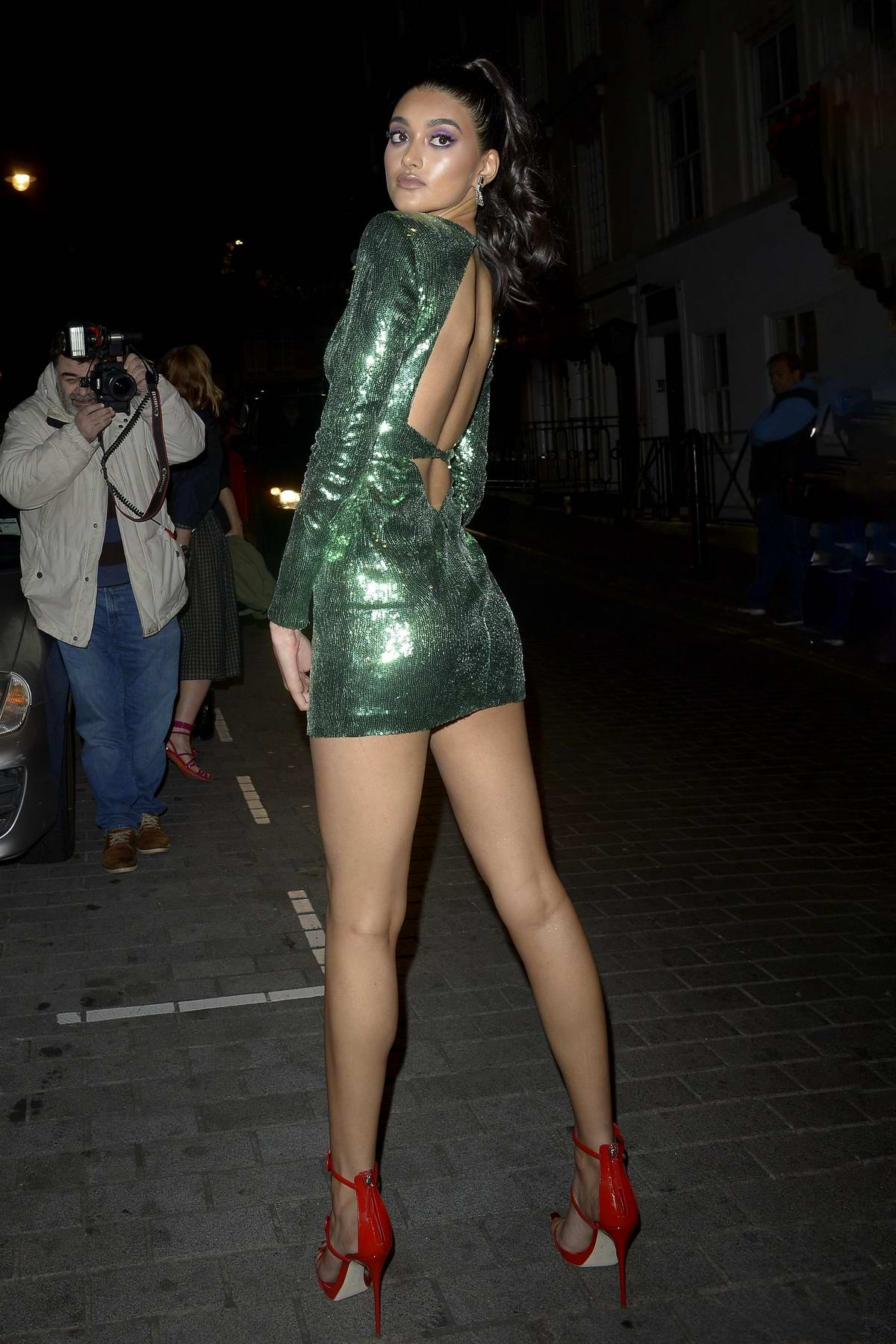 Neelam Gill arriving at the LOVE Magazine 10th Birthday Party at Loulou's during London Fashion Week in London, UK