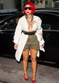 Nicki Minaj dazzles in her hair as she arrives Monse Runway Show during New York Fashion Week in New York City