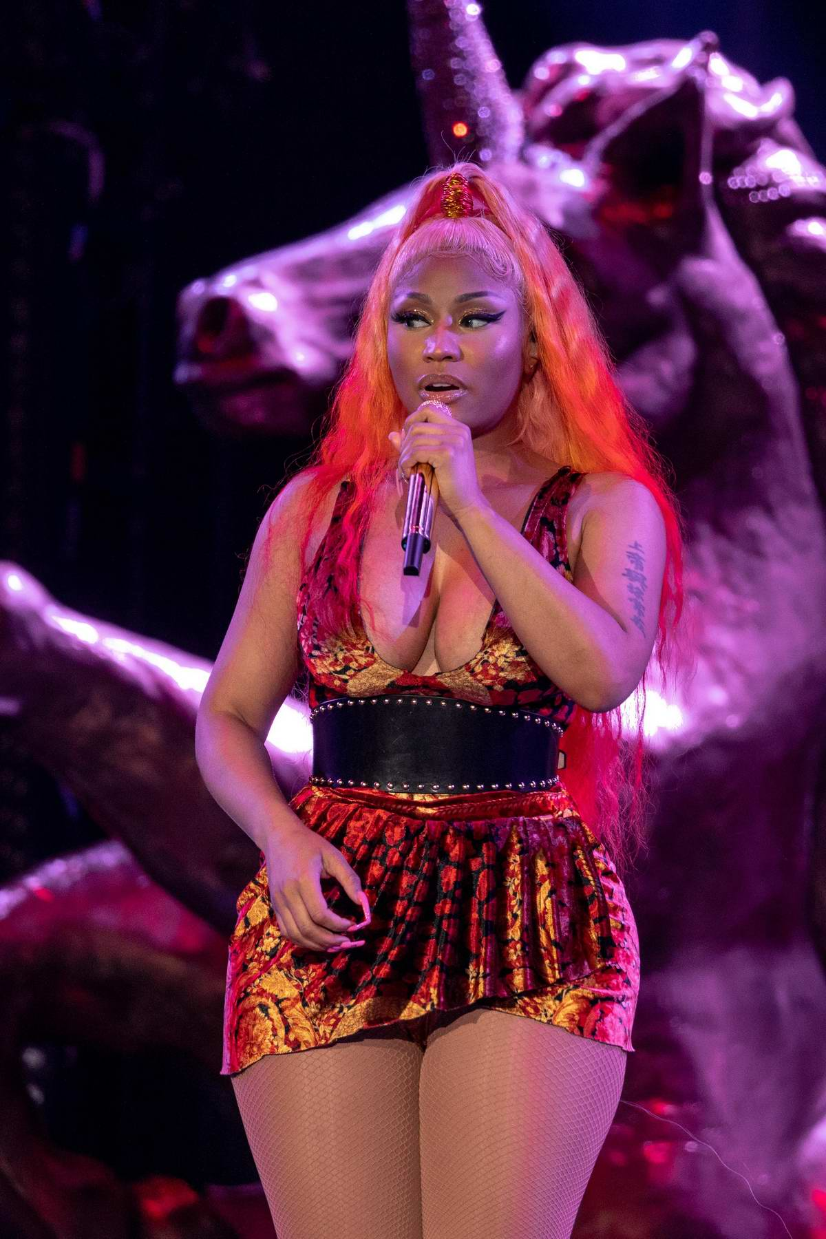 Nicki Minaj performs during Made in America Music Festival in Philadelphia, Pennsylvania