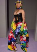 Nicki Minaj rocks a colorful ensemble while attending Versace Show, SS19 during Milan Fashion Week in Milan, Italy