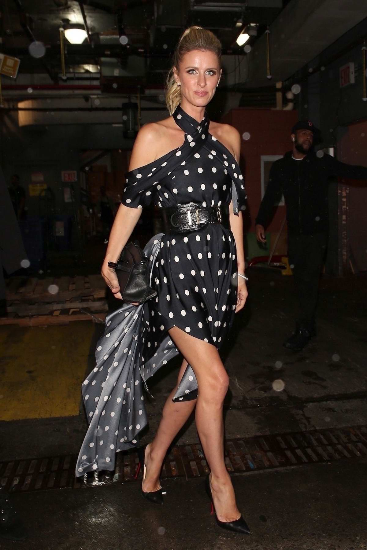 Nicky Hilton arrives at the Tommy Hilfiger bash during New York Fashion Week in New York City