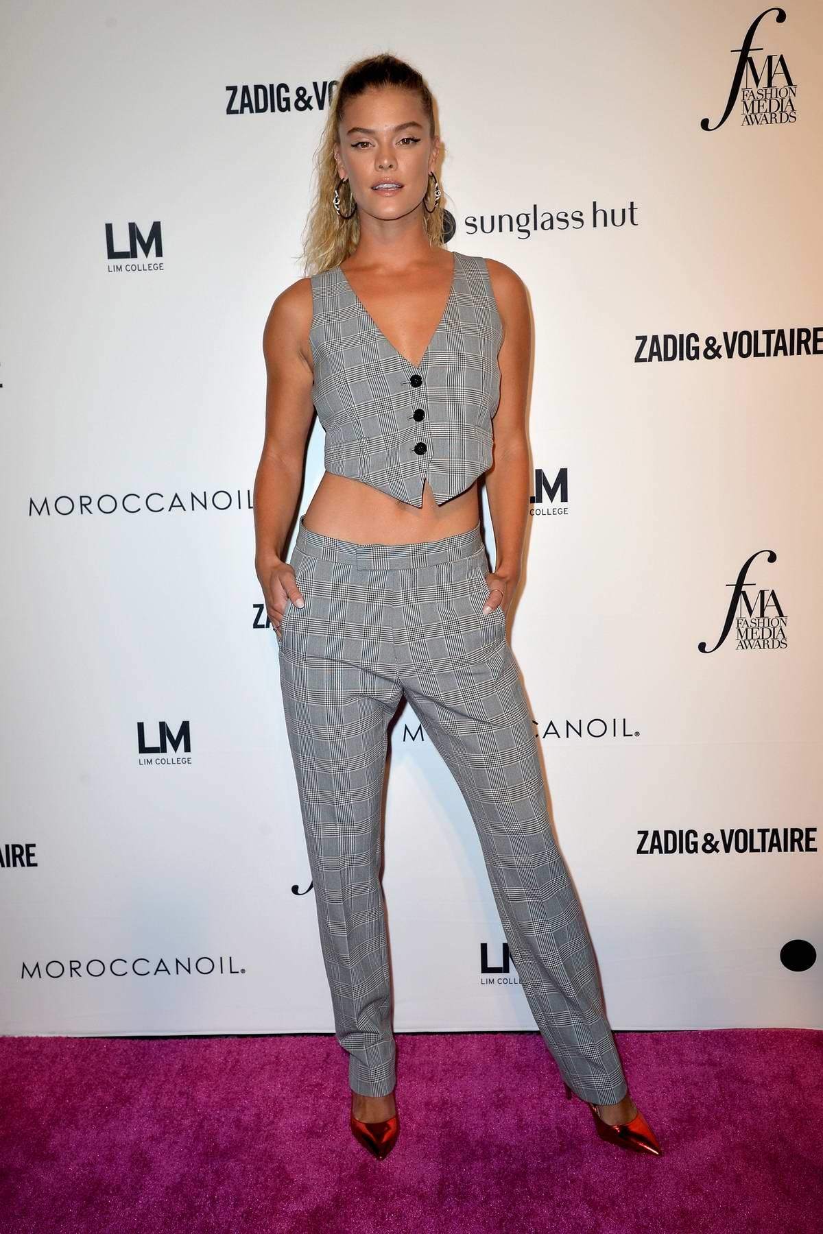 Nina Agdal attends the Daily Front Row's 2018 Fashion Media Awards at Park Hyatt in New York City