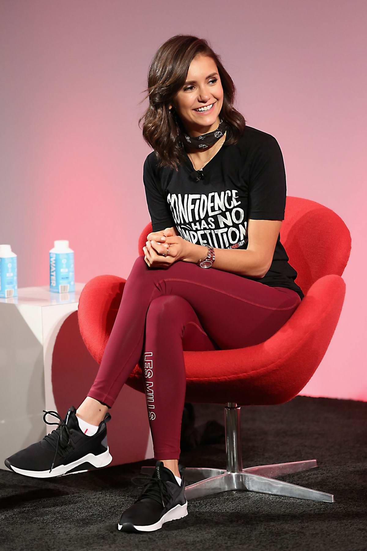 Nina Dobrev at the Reebok and Nina Dobrev host the 'Donate In Sweat' event in New York City